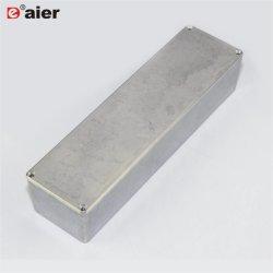 Pedal de guitarra fundido caja caja de aluminio para la electrónica