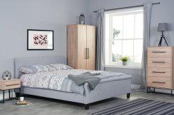 Konrad-Eichen-Garderoben-Schlafzimmer-Möbel eingestellt worden mit metallhaltigem (HF-BL313)