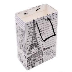 Bon cadeau imprimé personnalisé recyclables Shopping sac de papier d'emballage