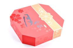Dom Mooncake luxo rígida caixa de cartão Carimbo quente UV papel de superfície com bandeja de PVC