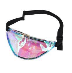 Clair PVC transparent Fanny Pack Laser hologramme sac banane imperméable pour Unisex