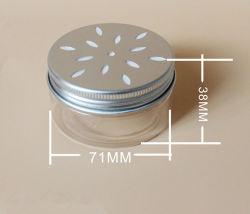 80ml jarro de PET transparente com tampa oco de alumínio branco creme comida Jar Jar Pet
