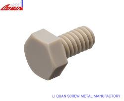 L'écrou de POM PE Peek en plastique de la vis de la rondelle de vis haute résistance à la corrosion et de température de fixation