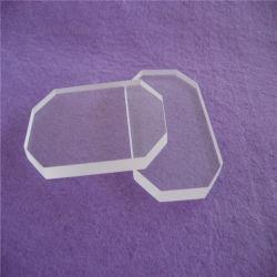 Corte de canto clara resistentes ao calor da folha de vidro de quartzo