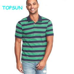 Мода для мужчин хлопок/полиэстер поле для гольфа рубашки поло повседневный короткие втулки полосой T футболка