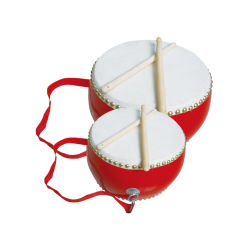 Китай традиционный стиль документа музыкального барабана красного цвета из дерева деревянные игрушки