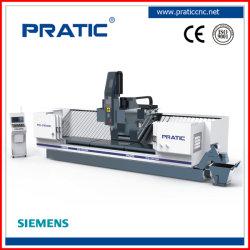 Tornio CNC ad alta precisione a lunga corsa per profili in alluminio per foratura, fresatura, taglio