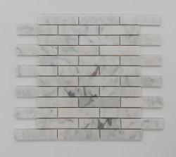 Hochwertiges Poliercarrara-weißes Marmormosaik für Fußboden-Fliese