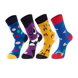 4 pares de dentes loucos Funny Crazy novidade vestir meias Jacquard com caixa de oferta refeições