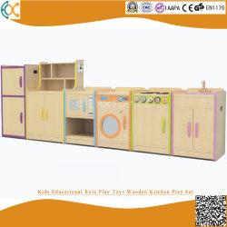 Insieme di legno del gioco della cucina di ruolo dei capretti dei giocattoli educativi del gioco