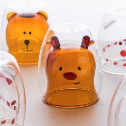 엘크 디자인 선물 컵 크리스마스 커피 컵 창의적인 디자인 커피 컵 글라스 선물 컵
