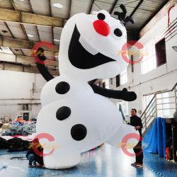 Congelado de Navidad iluminado de la OLAF Airblown inflables, Blow up césped Yard