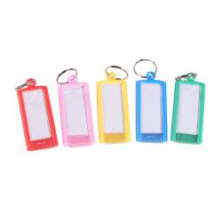 Sortierter Farben-Plastikring-Schlüssel mit Fenster-Deckel-Schlüsselmarke