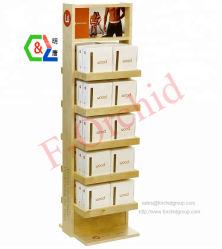 Ropa interior de madera Mostrar Rack con estantes