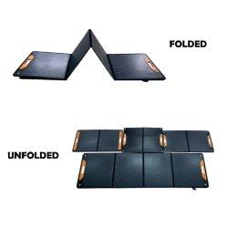 طاقة محمولة للطاقة الشمسية قابلة للطي بقدرة 200 واط تعمل بنظام USB DC حقيبة شحن OBM OEM
