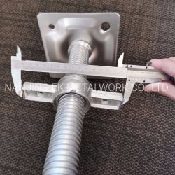 건축을%s 비계 구렁 간이 기중기 조정가능한 강철 기본적인 비계
