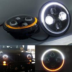 "H4 지능적인 자동 램프 ECE 점 승인되는 최고 차 빛 7 "" LED 헤드라이트"