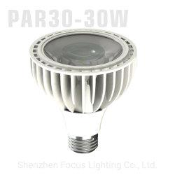 30 واط، 110 فولت، 220 فولت، E26، 3000K 4000K، 6000K، COB مصباح LED Spotlight للجنزير ETL RoHS PAR30