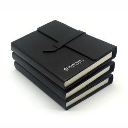 カスタムひな形 A5 スクール PU レザーハードカバージャーナル紙用ノートブック