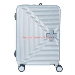 Carrinho de ABS Hard Shell Caso leve Sala Mala efectuar em 4 conjuntos de bagagem de Roda Única