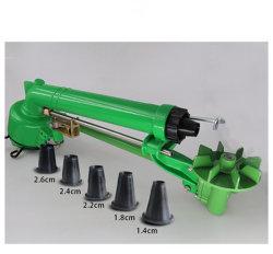 Grande pistola della pioggia dello spruzzatore di irrigazione della ruggine del metallo verde della prova