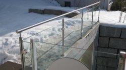 Raccord de la main courante en acier inoxydable en verre de rampe d'escalier piquet de clôture