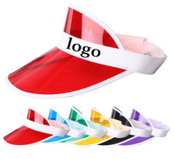Novo Design de Cortina de PVC transparente Hat Sport Cap com o logotipo personalizado