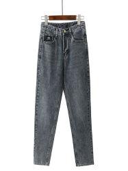 Caliente la venta el 98% Algodón 2% Spandex moda casual Haren Denim Jeans pantalones recortados