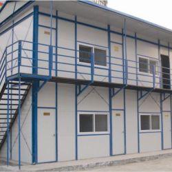 Dos pisos bajo coste de 2 dormitorio cocina baño país modernas de seguridad de la familia de metal prefabricados Home