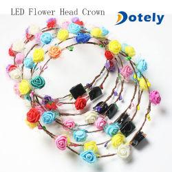 Светодиодный индикатор волос свадебное цветы Headbands Короны