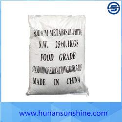Métabisulfite de sodium de grade alimentaire utilisé dans les conserves de champignons, confit, les vermicelles pour blanchir les produits à prix d'usine