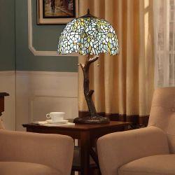 Tiffany Style 16 Polegadas candeeiro de mesa Vitrais artesanais de latão Sombra Dragonfly