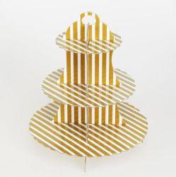 Blanc multiniveau multifonctionnelle papier jetable Cup Cake titulaire Stand pour Birthday Party