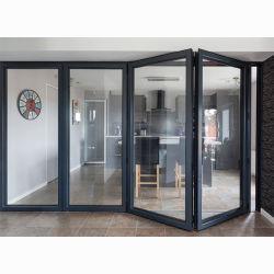 アルミニウムドアの前ドアは内部のガラスBifoldドアを設計する