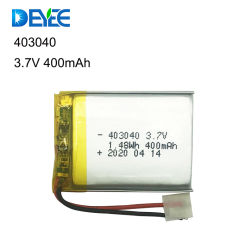 リチウムポリマーバッテリー 3.7V 400mAh 450mAh Lipo バッテリー 403040 用 ゲームコントローラ /GPS 追跡 / 医療機器