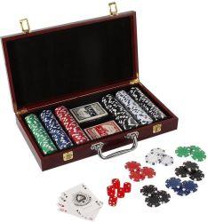 De hete Reeks Van uitstekende kwaliteit van de Spaanders van de Pook van het Casino van de Verkoop Professionele met Houten Geval Twee Dekken van Speelkaarten