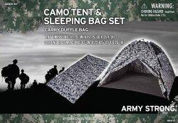 Set outdoor Hunter Camo Tenda & Sleeping Bag Set Bambini Toy Giocare Cent