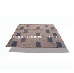 Les bardeaux des matériaux de toiture en carton ondulé en métal recouvert de tuiles de pierre pour la décoration de la chambre