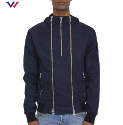 2020 Winter Track Jacket Coats Wholesale Custom Screen Print 로고 남성용 Zip 오토바이 재킷