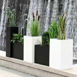 La decoración de interiores rectangular Flor de la capa de polvo/caja de aluminio Maceta