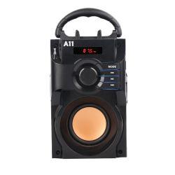 Деревянные Bluetooth 2.1 сабвуфер для насыщенных басов беспроводной портативный радиоприемник FM динамиков громкоговорителя A11 с пульта дистанционного управления