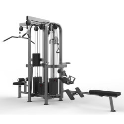 Multi gimnasio de la máquina de la selva de la pila de 4 equipos de gimnasio comercial