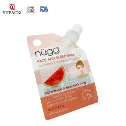 Envases cosméticos de plástico de levantarse de la bolsa de la boca con tapas de Mascarilla de barro
