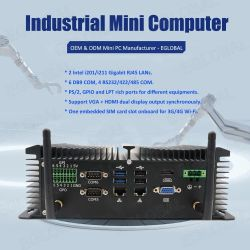 Eglobalの産業多機能の小型パソコンのIntel Celeron J1900 Pfsenseのコンピュータ金持ちインターフェイスGpio Lpt HDMIを働かせる24/7時間