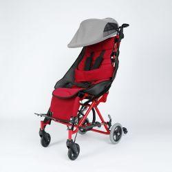 Sedia a rotelle pediatrica telaio pieghevole con tensione regolabile all'indietro
