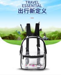透過PVC袋の多彩な付属品の方法学校のバックパック