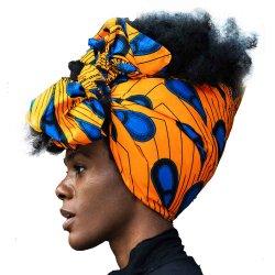 최신 인기 상품 아프리카 형식 면 왁스 직물 인쇄 공작 Headwrap