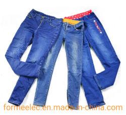 Las existencias de ropa vieja ropa de invierno de prendas de vestir pantalones de algodón de inventario usado Pantalones jean pesada