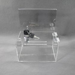 Scatole acriliche per la raccolta di biglietti da visita trasparenti con porta segnaletica
