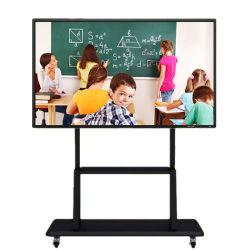 All in one Android 8.0 sistema Windows Linux Dual 4K Lavagna bianca elettrica Smart Interactive Whiteboard con display LCD a schermo piatto Per la scuola